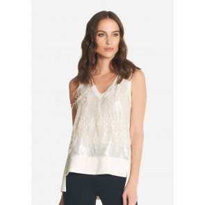 PLUMET V NECK SLEEVELESS T-SHIRT